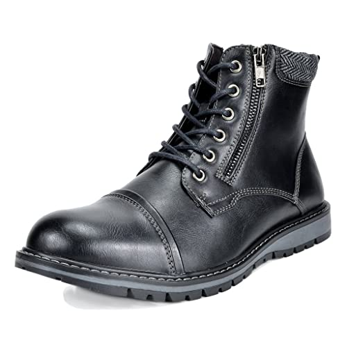 250ac46a43ff Bruno Marc Men s Apache Motocycle Combat Ankle Boots