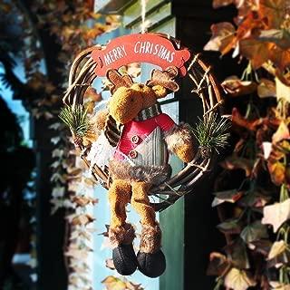 Codream 10-Inch-by-14-Inch Christmas Door Wreath, Reindeer