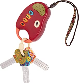 B. toys – FunKeys Toy – Funky Toy Keys for Toddlers and Babies – Toy Car Keys and Red remote with Light and Sounds –100% Non-Toxic and BPA-Free