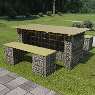 mewmewcat Mur /à Gabion avec couvercles Acier galvanis/é 100x20x100 cm