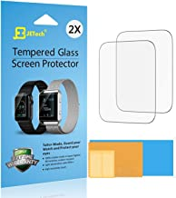 JETech 2-Pack Screen Protector for Apple Watch 42mm Series 1 2 3 Tempered Glass