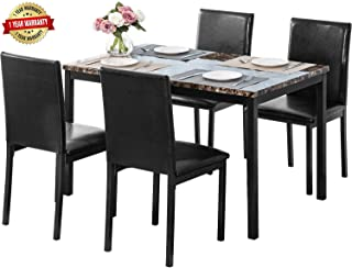 Best black marble dining table set Reviews