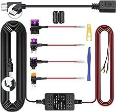 Dash Cam Hardwire Kit, Mini/Micro USB Hard Wire Kit 12V-24V to 5V Hardwire Kit with Low Voltage Protection 13ft Car Dash C...