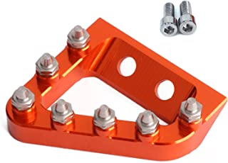 AnXin CNC Rear Brake Pedal Step Plate Tip For KTM SXF SX EXCF XCF XCW EXC 125 150 200 250 350 450 500 2017 2018 17 18 Motorcycle - Orange