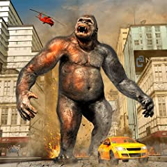 .Fun Gorilla Action Controls Detailed 3D environment High Speed Action City Escape and Rampage Missions