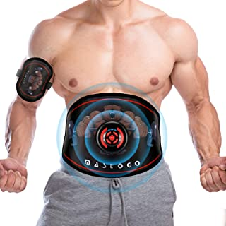 MASTOGO Electronic Abs Toning Training Belt - 9 Modes Pulse Abdominal Stomach Machine EMS Waist Trimmer Equipment Ab Fitne...