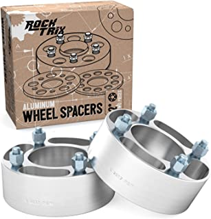 RockTrix - 2 inch ATV Wheel Spacers (4x110, 74mm Bore, 10x1.25 Studs Nuts) Compatible with Various Honda Yamaha Kawasaki Suzuki Bombardier (Read Listing for Year Model Info) UTV V4 50mm Silver 2pcs