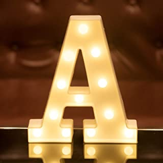 Focux LED Letter Lights Alphabet Light Up Sign for Night Light Home Party Birthday Wedding Bar Decoration LED Letter Batte...