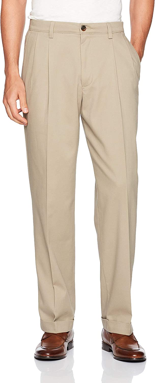 Dockers Men's Relaxed Fit Easy Khaki Pants-Pleated
