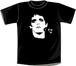 Mister Patch - Maglietta - T-Shir con Logo Lou Reed - 100% Cotone - Rossa e Nera
