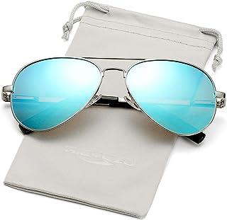 Polarized Aviator Sunglasses for Men Women Vintage Round Metal Sun Glasses 100% UV400 Protection