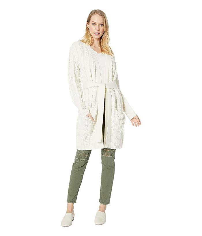 BB Dakota Locals Only Cable Knit Sweater (Ivory) Women