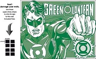 Shop72 Tin Sign DC Comic Green Lantern Super Hero Metal Tin Sign Retro Vintage No Damage to Walls