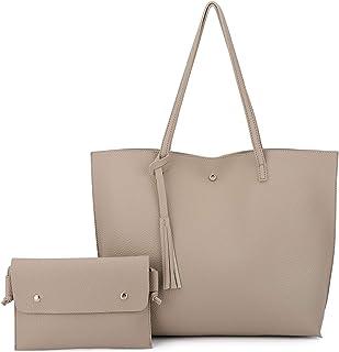 KEYRE حقيبة حمل جلد صناعي ناعم للمرأة محفظة حقائب حمل حقيبة الكتف محفظة سعة كبيرة
