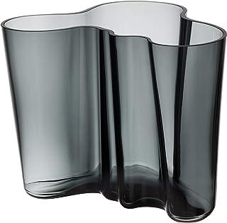 Iittala Alvar Aalto - Jarrón, Cristal, Gris, 19 x 20 x 16 cm