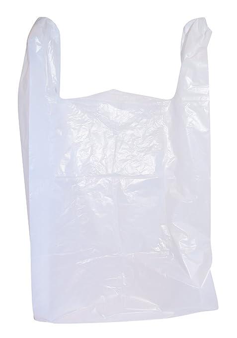 "100 pc 1//6 Black Plastic T-Shirt Shopping Carryout  Bags 11.5/"" X 6.5/"" x 22/"""