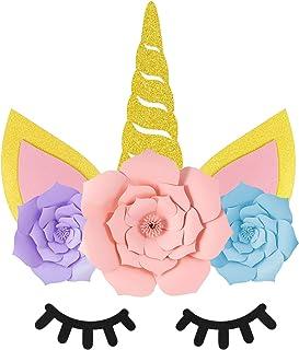 Unicorn Party Supplies Decorations, Unicorn Backdrop Prefect for Unicorn Theme Party, Unicorn Birthday Party, Baby Shower ...