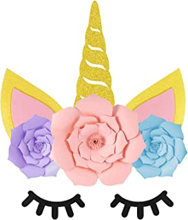 Unicorn Party Supplies Decorations, Unicorn Backdrop Prefect for Unicorn Theme Party, Unicorn Birthday Party, Baby Shower Party, Unicorn Gold Party Favors for Girls Kids