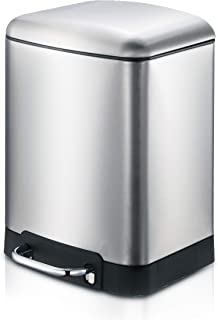 SmartBin 1.58 Gallon/ 6L Basic Style Stainless Steel Step Pedal Trash Can Garbage Can Disponible Dust Bin Waste Basket Rec...