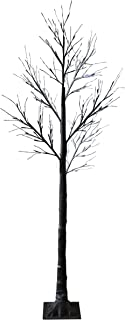 Jaymark Products Christmas 7ft 210cm Pre Lit LED Twig Tree Floor Standing Outdoor Indoor Snowy Effect - Warm White