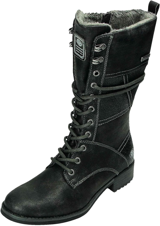 Dockers Damen Stiefel Stiefel Schwarz schwarz  Fabrikverkauf