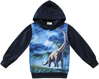سترات للأولاد بقلنسوة ديناصور قمصان بقلنسوة تي شيرت كاجوال بقلنسوة بأكمام طويلة زي خارجي