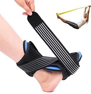 Plantar Fasciitis Night Splint, OUTERDO Foot Drop Orthotic Brace Adjustable Night Support for Both Feet, Ankle Splint Effective Relief from Plantar Fasciitis Heel Pain Foot Back Sprain and Strain
