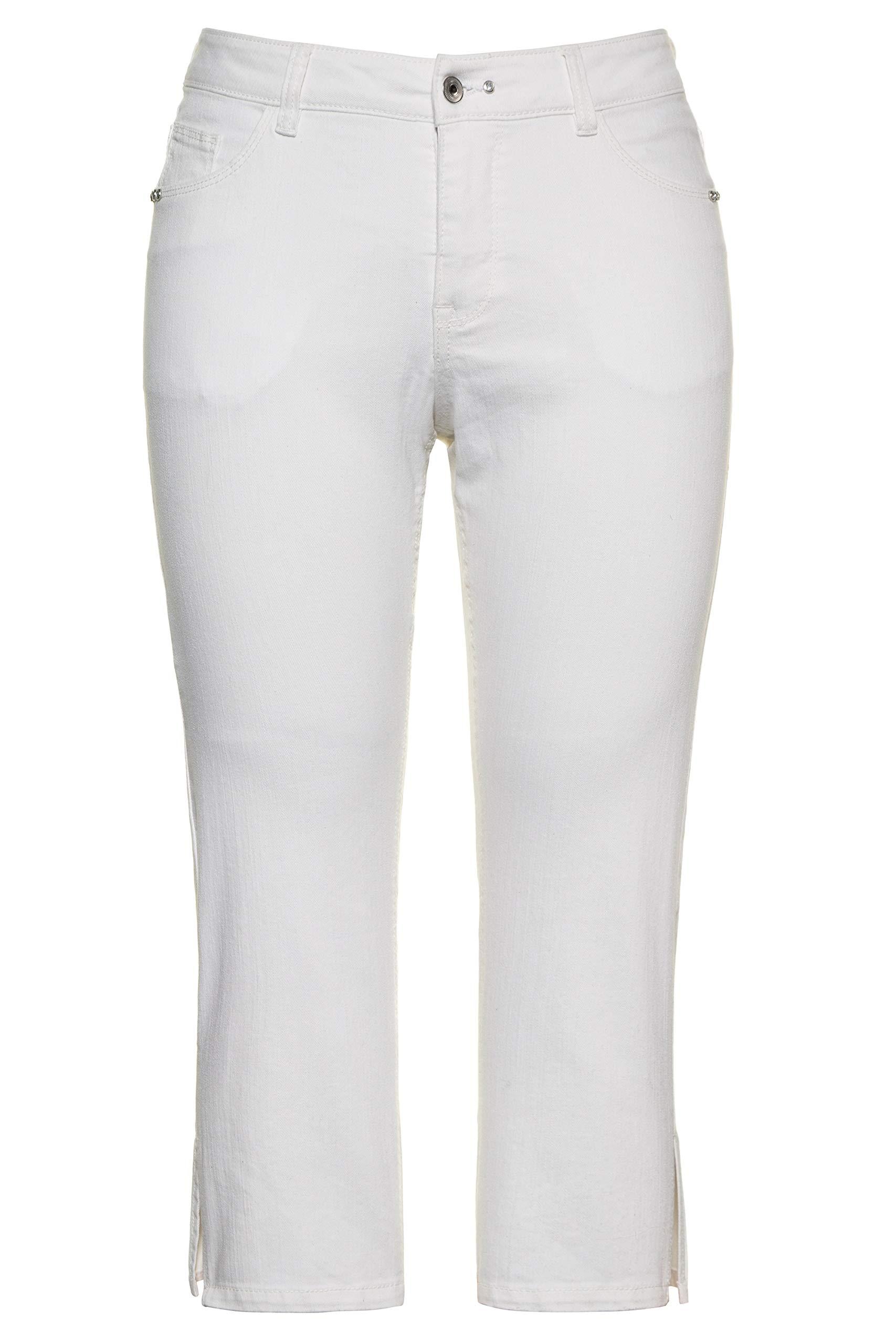 Femme Grandes Tailles Jean 7/8 Sammy, Rivets, Jambe Droite 747312