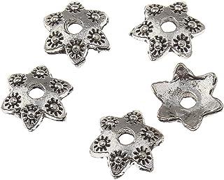 250 filigrane Perlkappen Perlenkappen 6,5mm antik silber Spacer Schmuck  R52