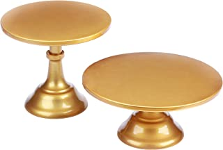 VILAVITA 2-Set Modern Cake Stands Round Cake Stand Cupcake Stands for Baby Shower, Wedding Birthday Party Celebration, Gold