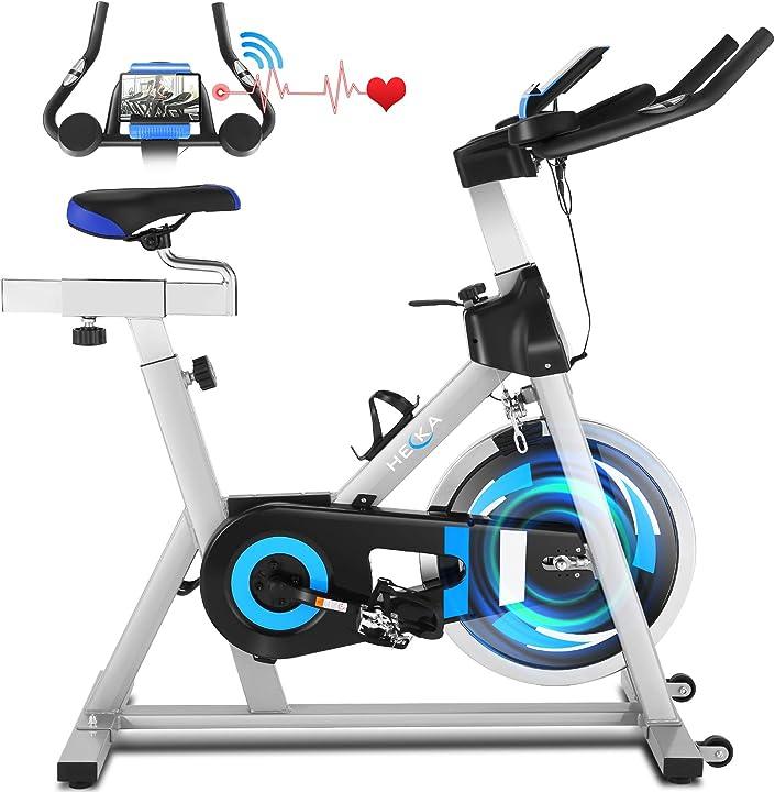 Cyclette casa per allenamento con volano 20 kg, bicicletta professionale per casa - heka B08X4GKRWY