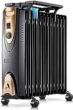 SZHWLKJ Un Cambio de Aceite mecánica Negro Llenado del radiador, Calentador eléctrico Habitación Mini portátil 2000W Termostato