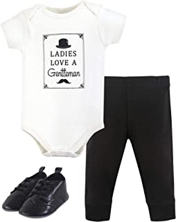 Baby Cotton Bodysuit, Pant and Shoe Set