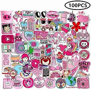 ZIYAN 100 PCS Girl Cute Lovely Laptop Stickers Pink Decorative-Stickers Phone Guitar Water Bottle Motorcycle Skateboard Bicycle Bike Sticker Decal