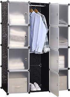 WOLTU SR0103stp DIY Armoire Plastique Chambre Faite de modules avec Porte pour Le Stockage de vêtements, Accessoires, Joue...