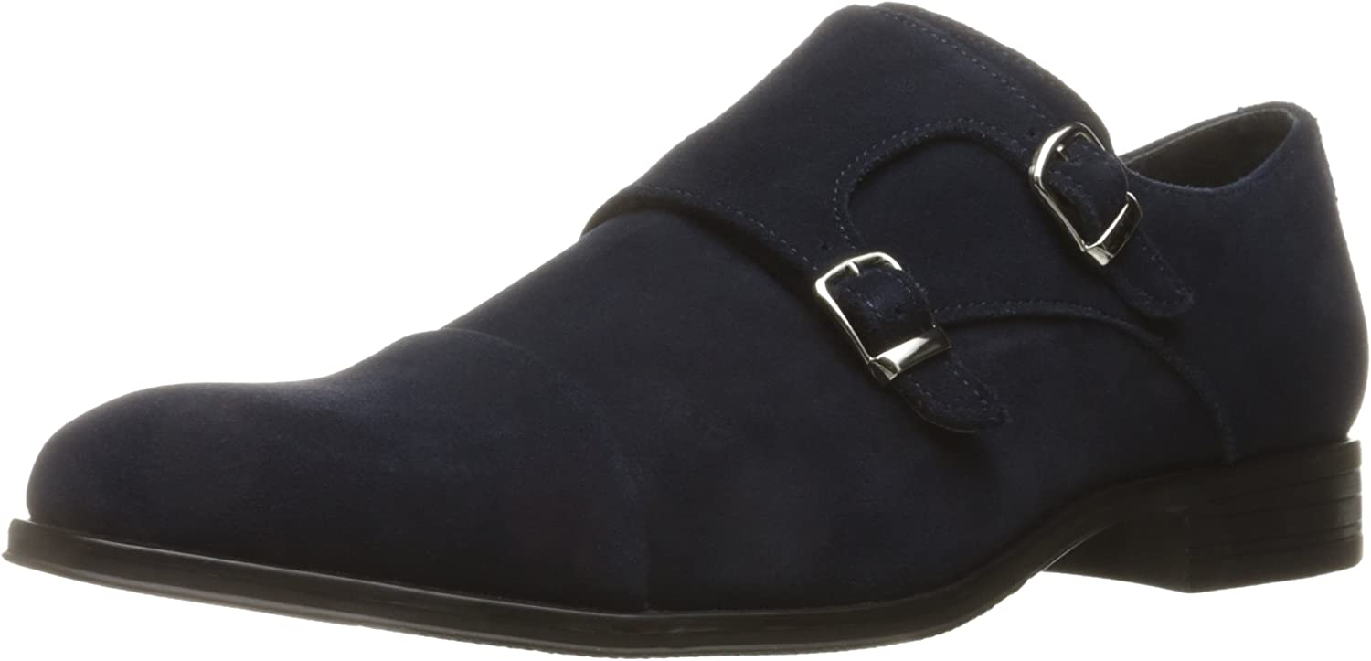 Stacy Adams Mens Slocomb - Cap Toe Double Monk Strap Slip-On Loafer