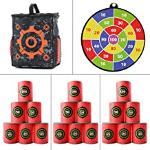 Yamix Refill Darts Target Set Includes 1 x Target Pouch Storage Carry Equipment Bag + 18 x Bullet Target + 1 x Shooting Target (Type 2)