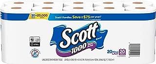 Scott 1000 Sheets Per Roll, 2 pack of 20 Toilet Paper Rolls, Bath Tissue
