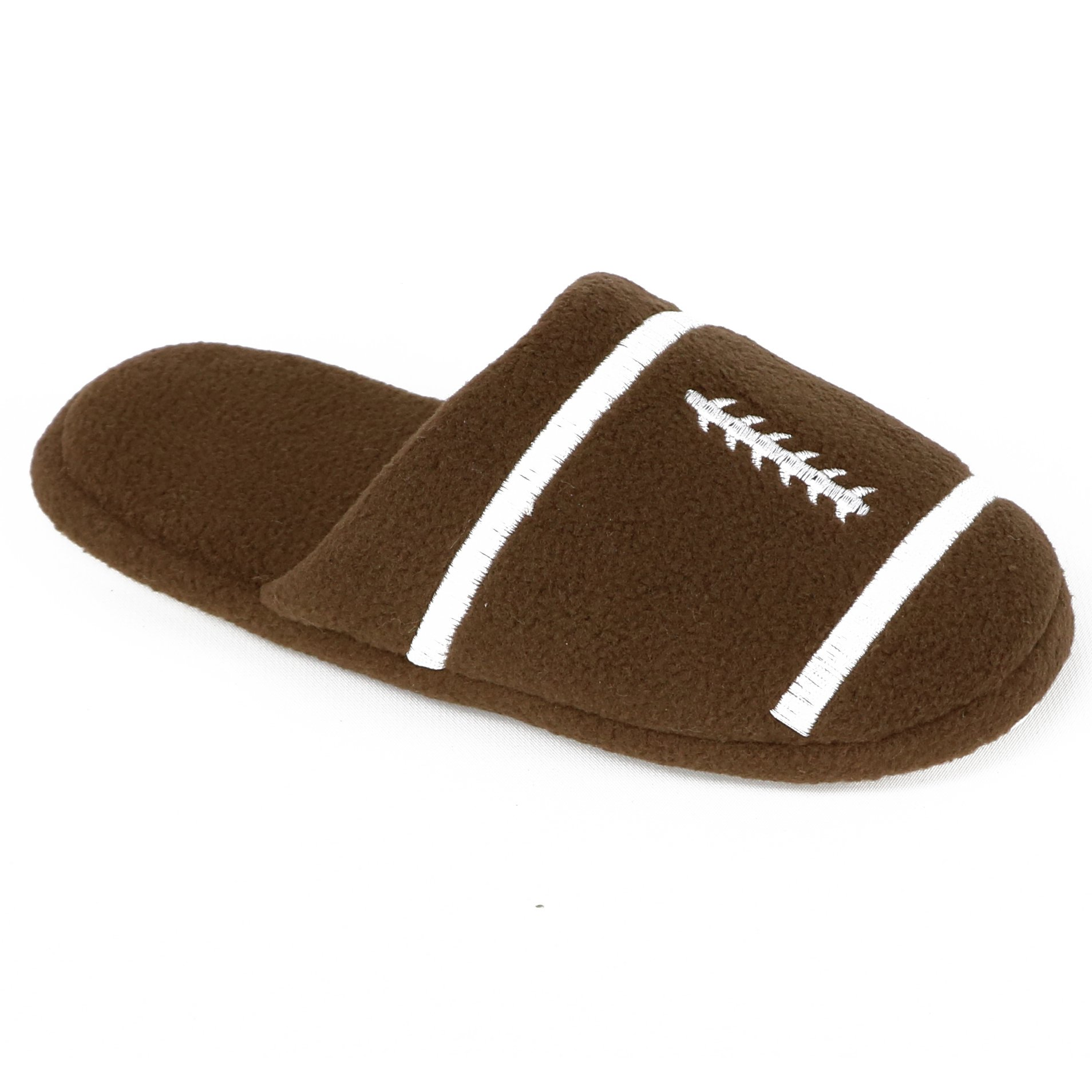 Image of Brown Football Slippers for Boys