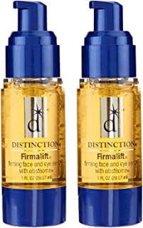Distinction Firmalift Firming Face and Eye Serum with Elastisome | Anti Aging Serum - Helps Reduce The Appearance of Fine Lines and Wrinkles, Soothes, and Moisturizes (2 Pack)