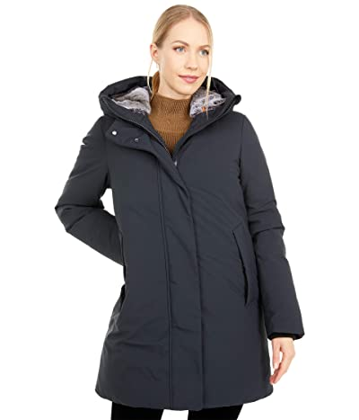 Save the Duck Faux Fur Lined Hooded Parka (Black) Women
