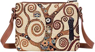 Signare Tapestry Collection of Gustav Klimt Tree of Life Fashion Bags