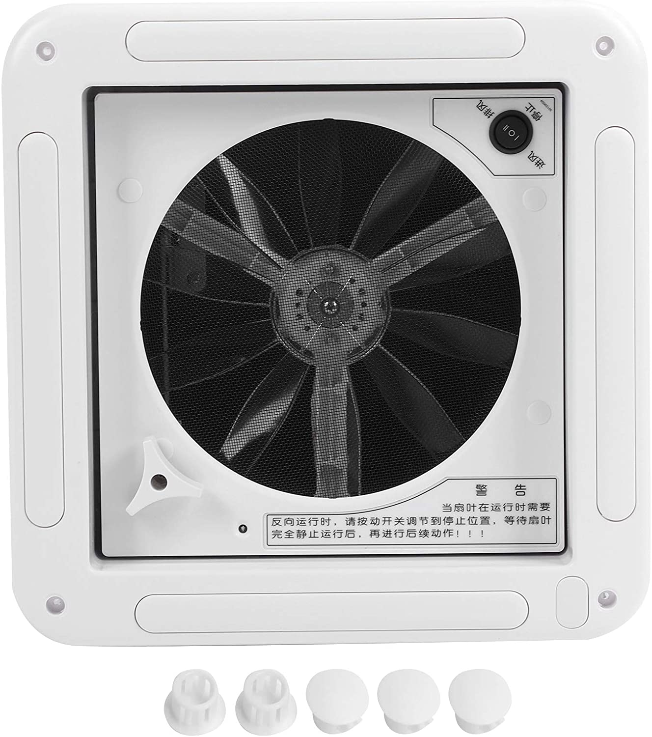 Yctze 280x280mm Limited price sale 11x11in Exhaust Washington Mall Toilet 12V Fan Top‑Mounted