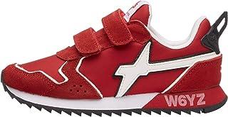 w6yz Jet VL-J-Sneaker in Tessuto e Suede-Bianco