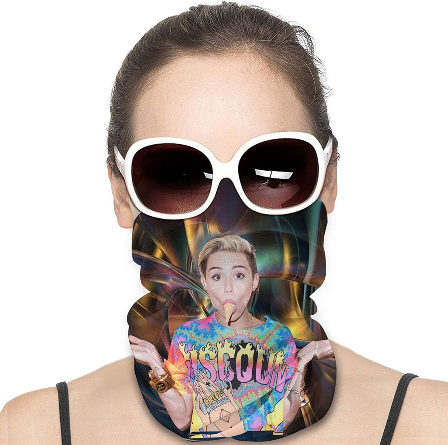 Miley Cyrus Unisex Neck Gaiter Face Mask Man Womans Multifunction Balaclava Face Cover,Cycling Mask,Sport Neck Gaiter,Hiking Scarf,Fishing Mask, Motorcycle Face Cover