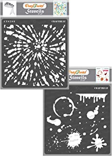 CrafTreat Tie Dye Stencils for Painting on Wood, Canvas, Pap
