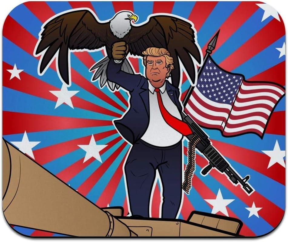Patriotic Donald Max 85% OFF Trump with Eagle American Profile Gun Flag Low Tucson Mall