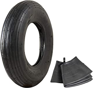 """4.80/4.00-8"""" Replacement Pneumatic Wheel Tire and Tube"""