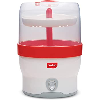 LuvLap Royal Electric Steam Sterilizer for 6 feeding bottles, BPA Free