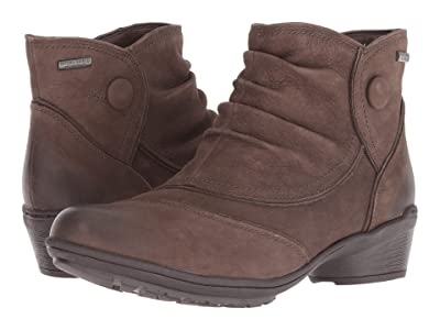Rockport Raven Waterproof Button Boot (Stone Nubuck) Women
